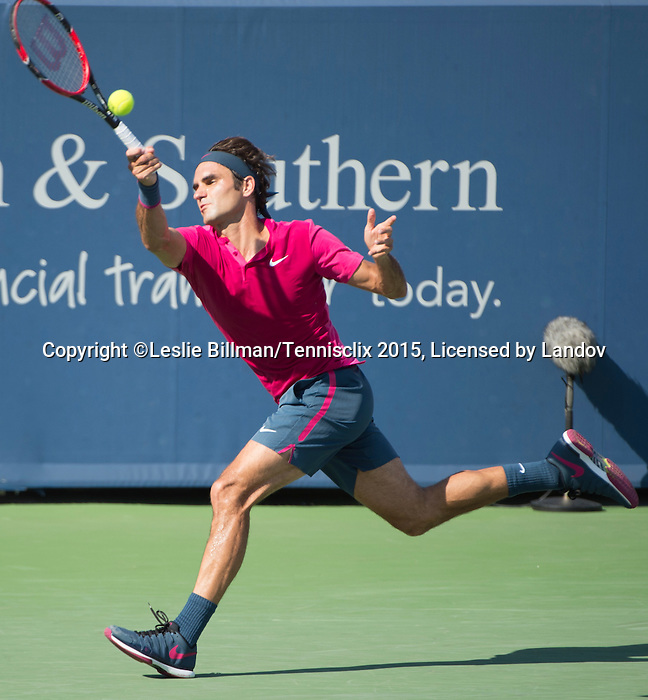 Roger Federer (SUI) defeats Andy Murray (GBR)  6-4, 7-6 at the Western and Southern Open in Mason, OH on August 22, 2015.