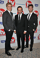 Ryan Hawley, Andrew Scarborough and Ned Porteous at the TV Choice Awards 2018, The Dorchester Hotel, Park Lane, London, England, UK, on Monday 10 September 2018.<br /> CAP/CAN<br /> &copy;CAN/Capital Pictures