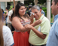 Evelyn Vega '16 and her father, Ricardo Vega.<br />