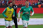 17.03.2019, BayArena, Leverkusen, GER, 1. FBL, Bayer 04 Leverkusen vs. SV Werder Bremen,<br />  <br /> DFL regulations prohibit any use of photographs as image sequences and/or quasi-video<br /> <br /> im Bild / picture shows: <br /> Maximilian Eggestein (Werder Bremen #35), Nuri Sahin (Werder Bremen #17), beim Aufwaermen, Einzelaktion,  <br /> <br /> Foto © nordphoto / Meuter
