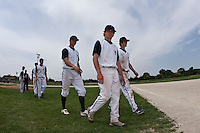 22 May 2009: Players of Team Montpellier are seen during the 2009 challenge de France, a tournament with the best French baseball teams - all eight elite league clubs - to determine a spot in the European Cup next year, at Montpellier, France. Senart wins 7-1 over Montpellier.