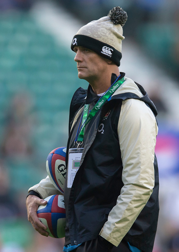 England's defence coach John Mitchell<br /> <br /> Photographer Bob Bradford/CameraSport<br /> <br /> Quilter Internationals - England v South Africa - Saturday 3rd November 2018 - Twickenham Stadium - London<br /> <br /> World Copyright © 2018 CameraSport. All rights reserved. 43 Linden Ave. Countesthorpe. Leicester. England. LE8 5PG - Tel: +44 (0) 116 277 4147 - admin@camerasport.com - www.camerasport.com