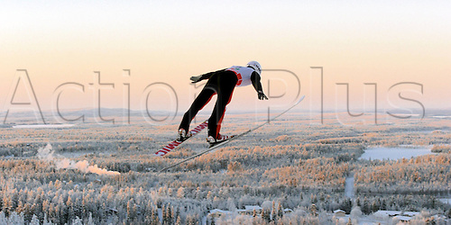 26.11.2010 Ski jumping FIS World Cup Nordic Opening Finland Kuusamo. Picture shows Taylor Fletcher USA