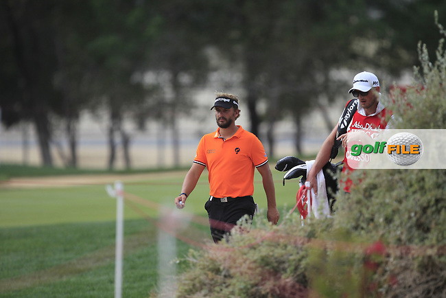 Joost Luiten (NED) walking to the 6th tee during Round 4 of the Abu Dhabi HSBC Championship on Sunday 22nd January 2017.<br /> Picture:  Thos Caffrey / Golffile<br /> <br /> All photo usage must carry mandatory copyright credit     (&copy; Golffile | Thos Caffrey)