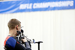 COLUMBUS, OH - MARCH 11:  Nicholas Learn, of the U.S. Air Force Academy, competes during the Division I Rifle Championships held at The French Field House on the Ohio State University campus on March 11, 2017 in Columbus, Ohio. (Photo by Jay LaPrete/NCAA Photos via Getty Images)