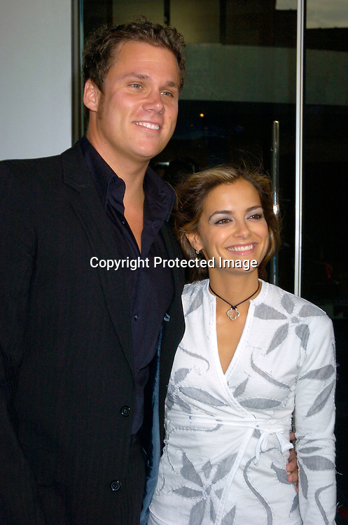 Bob Guiney and wife Rebecca Budig ..at the Hotel Gansavoort for a party to launch All My Children Enchantment Perfume on September 22, 2004...Photo by Robin Platzer, Twin Images
