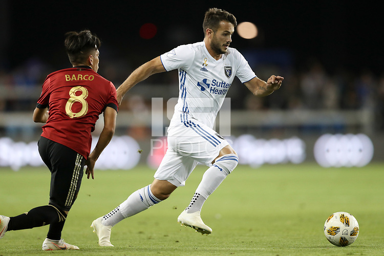San Jose, CA - Wednesday September 19, 2018: Vako during a Major League Soccer (MLS) match between the San Jose Earthquakes and Atlanta United FC at Avaya Stadium.