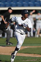 Manny Jefferson #5 of the Pepperdine Waves runs the bases during a game against the Tulane Green Wave at Eddy D. Field Stadium on March 13, 2015 in Malibu, California. Tulane defeated Pepperdine, 9-3. (Larry Goren/Four Seam Images)