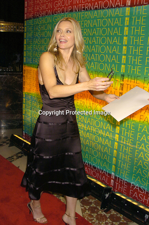 Michelle Pfeiffer ..at the FaShion Group International's 21st Annual Night of ..Stars on October 28, 2004 at Cipriani 42nd Street in New York City. ..Photo by Robin Platzer, Twin Images