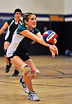 25 October 2011: The Vermont Commons School Flying Turtles Boys and Girls Volleyball Teams visit the Lake Region Union Rangers at Lake Region Union High School in Orleans, Vermont. Mandatory Credit: Ed Wolfstein Photo