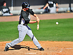 8 March 2010: Florida Marlins' infielder Matt Dominguez in action during a Spring Training game against the Washington Nationals at Space Coast Stadium in Viera, Florida. The Marlins defeated the Nationals 12-2 in Grapefruit League action. Mandatory Credit: Ed Wolfstein Photo
