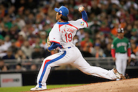 15 March 2009: #19 Hyun Wook Jong of Korea pitches against Mexico during the 2009 World Baseball Classic Pool 1 game 2 at Petco Park in San Diego, California, USA. Korea wins 8-2 over Mexico.