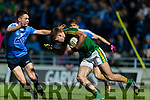 Adrian Spillane Kerry in action against Eric Lowndes Dublin in the National League in Austin Stack park on Saturday night.