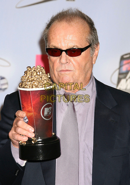 JACK NICHOLSON.Press Room - 2007 MTV Movie Awards,  Gibson Amphitheater, Universal City, California, USA,.3rd June 2007..portrait headshot sunglasses trophy .CAP/ADM/RE.©Russ Elliot/AdMedia/Capital Pictures. *** Local Caption *** ...