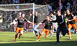 Sheffield United's John Fleck celebrates scoring his side second goal during the League One match at the Sixfields Stadium, Northampton. Picture date: April 8th, 2017. Pic David Klein/Sportimage