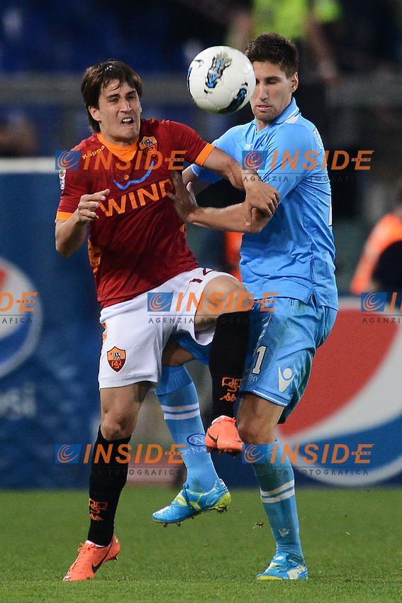 "Bojan Krkic Roma, Federico Fernandez Napoli.Roma 28/4/2012 Stadio ""Olimpico"".Football Calcio 2011/2012 Serie A.Roma Vs Napoli.Foto Insidefoto Andrea Staccioli"