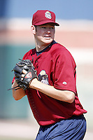 June 24, 2009:  Pitcher Preston Guilmet of the Mahoning Valley Scrappers during a game at Eastwood Field in Niles, OH.  The Scrappers are the NY-Penn League Short-Season Single-A affiliate of the Cleveland Indians.  Photo by:  Mike Janes/Four Seam Images