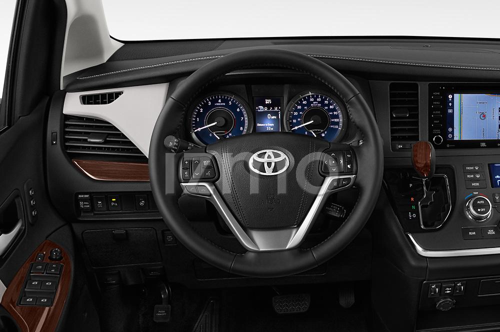 Car pictures of steering wheel view of a 2020 Toyota Sienna Limited FWD 5 Door Mini Van