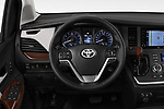Car pictures of steering wheel view of a 2020 Toyota Sienna Limited FWD 5 Door Mini Van