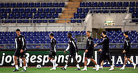 Bordeaux players attend a training session at Rome's Olympic stadium, 8 december 2008, on the eve of their Champions League football match against AS Roma..UPDATE IMAGES PRESS/Riccardo De Luca