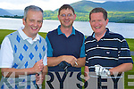 Enjoying the Fossa Golf Society Captains Prize competition on Saturday were Hugh Griffin, John Rice and Colm Griffin...