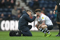 Preston North End's Sean Maguire receives treatmet <br /> <br /> Photographer Mick Walker/CameraSport<br /> <br /> The EFL Sky Bet Championship - Preston North End v Bristol City - Saturday 2nd March 2019 - Deepdale Stadium - Preston<br /> <br /> World Copyright © 2019 CameraSport. All rights reserved. 43 Linden Ave. Countesthorpe. Leicester. England. LE8 5PG - Tel: +44 (0) 116 277 4147 - admin@camerasport.com - www.camerasport.com