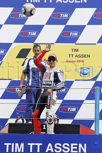 04 10 2008  MotoGP TIM TT Assen Race in the Netherlands, June 26, 2010. Jorge Lorenzo Fiat Yamaha