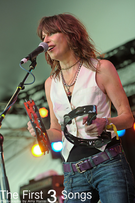 Chrissie Hynde of JP, Chrissie, and The Fairground Boys performs during the 2010 Voodoo Experience in New Orleans, Louisiana on October 31, 2010.