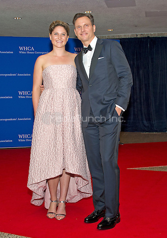 Actor Tony Goldwyn, right, and unidentified guest  arrive for the 2016 White House Correspondents Association Annual Dinner at the Washington Hilton Hotel on Saturday, April 30, 2016.<br /> Credit: Ron Sachs / CNP<br /> (RESTRICTION: NO New York or New Jersey Newspapers or newspapers within a 75 mile radius of New York City)/MediaPunch
