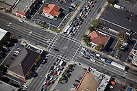 aerial photograph four way intersection Los Angeles, California