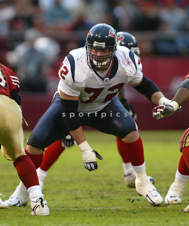 Zach Wiegert, of the Houston Texans, in action  during thier game against the San Francisco 49ers on January 1, 2006...49ers win 20-17...Rob Holt / SportPics