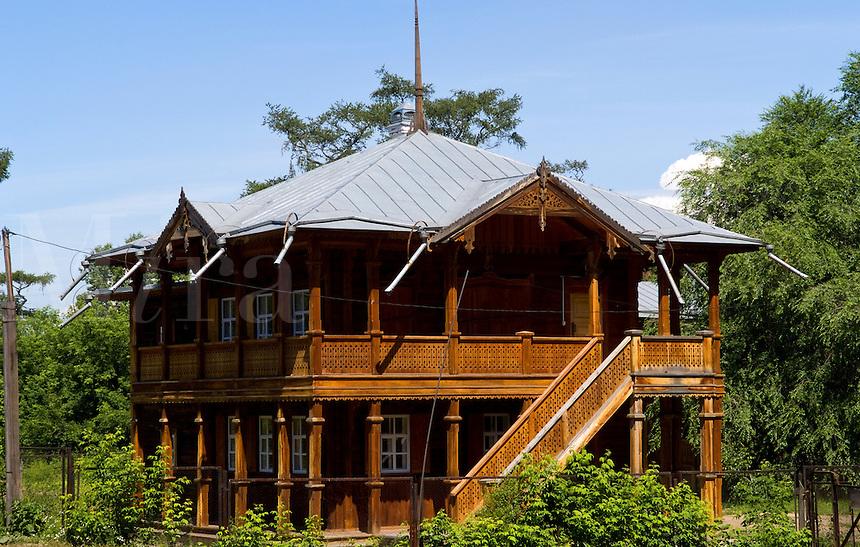 Wooden houses, Irkutsk, Siberia, Russia