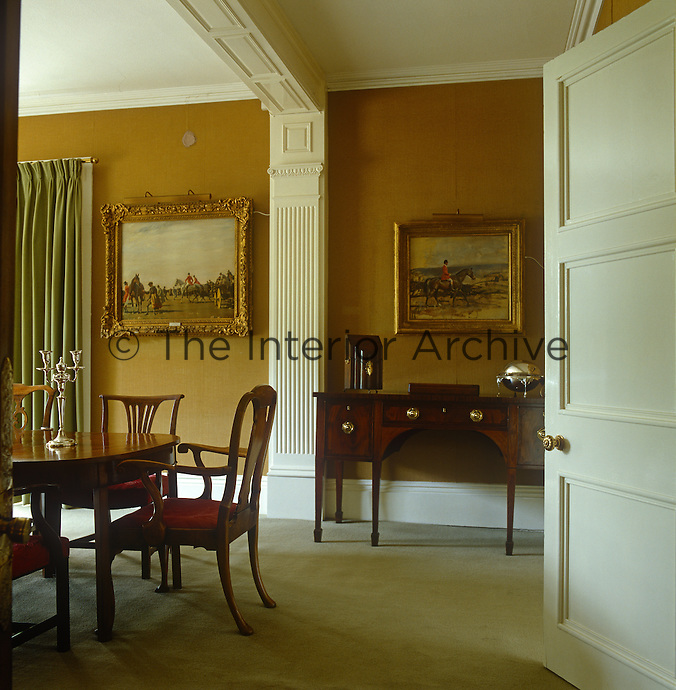 The Edwardian dining room of Castle House, the former home of artist Sir Alfred Munnings