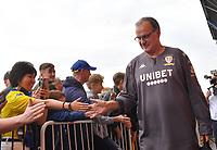 Leeds United's Manager Marcelo Bielsa arrives<br /> <br /> Photographer Dave Howarth/CameraSport<br /> <br /> The EFL Sky Bet Championship - Leeds United v Brentford - Wednesday August 21st 2019 - Elland Road - Leeds<br /> <br /> World Copyright © 2019 CameraSport. All rights reserved. 43 Linden Ave. Countesthorpe. Leicester. England. LE8 5PG - Tel: +44 (0) 116 277 4147 - admin@camerasport.com - www.camerasport.com