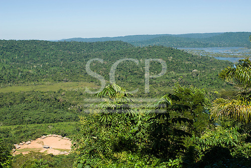 Pará State, Brazil. Aldeia Pukararankre (Kayapo). View of the village from the top of the hill.