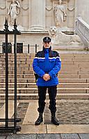 Gendarme outside Palais de Justice Paris..©shoutpictures.com.john@shoutpictures.com