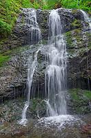 WASJ_D204 - USA, Washington, San Juan Islands, Orcas Island, Moran State Park, Cascade Falls in spring.