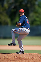 Atlanta Braves pitcher Victor Vodnik (60) delivers a pitch during a Florida Instructional League game against the Philadelphia Phillies on October 5, 2018 at the Carpenter Complex in Clearwater, Florida.  (Mike Janes/Four Seam Images)