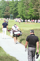 Paul McGinley follows behind Robert Karlsson as they walk down the 15th hole during the 3rd round of the 2008 BMW PGA Championship at Wentworth Club, Surrey, England 24th May 2008 (Photo by Eoin Clarke/GOLFFILE)