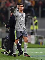 FUSSBALL CHAMPIONS LEAGUE  SAISON 2015/2016 ACHTELFINAL HINSPIEL AS Rom - Real Madrid                 17.02.2016 JUBEL Cristiano Ronaldo (Real Madrid)