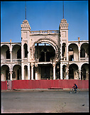 ERITREA, Massawa, the central post office in Massawa which was cluster bombed and riddled with bullet holes
