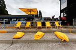 The outdoor bar area at Ingfield, complete with deckchairs and bean bags.Yorkshire v Parishes of Jersey, CONIFA Heritage Cup, Ingfield Stadium, Ossett. Yorkshire's first competitive game. The Yorkshire International Football Association was formed in 2017 and accepted by CONIFA in 2018. Their first competative fixture saw them host Parishes of Jersey in the Heritage Cup at Ingfield stadium in Ossett. Yorkshire won 1-0 with a 93 minute goal in front of 521 people. Photo by Paul Thompson