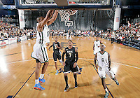 NBA player Russell Westbrook shoots at the South Florida All Star Classic held at FIU's U.S. Century Bank Arena, Miami, Florida. .