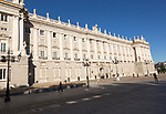 Frontage of Palacio Real royal palace, Madrid, Spain