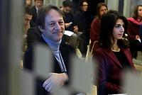 Roma, 1 Dicembre 2017<br /> Virginia Raggi e Luca Bergamo.<br /> Macro Testaccio<br /> Mostra google grand tour d'Italia