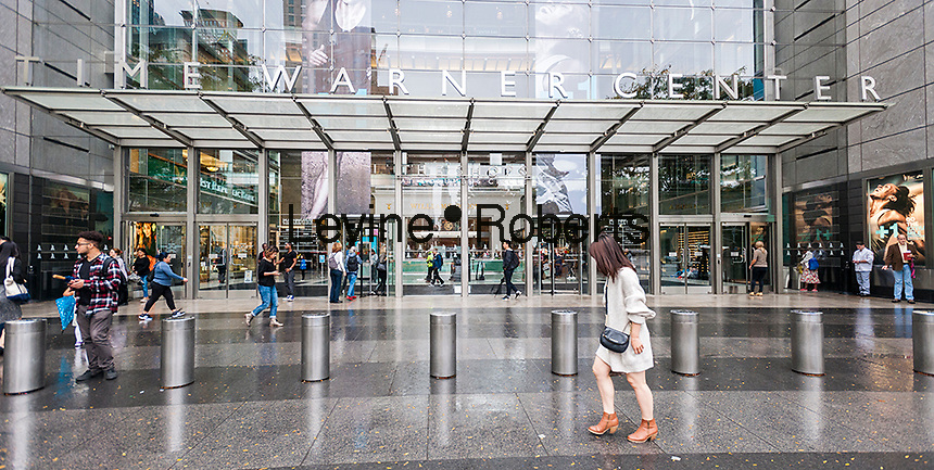 The Time Warner Center in New York on Friday, October 21, 2016. Telecommunications giant AT&T is reported to be in talks to acquire Time Warner.   (© Richard B. Levine)