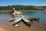 Pinecrest Lake, Watersports, Canoes, Pinecrest, California, USA.  Photo copyright Lee Foster.  Photo # california121416