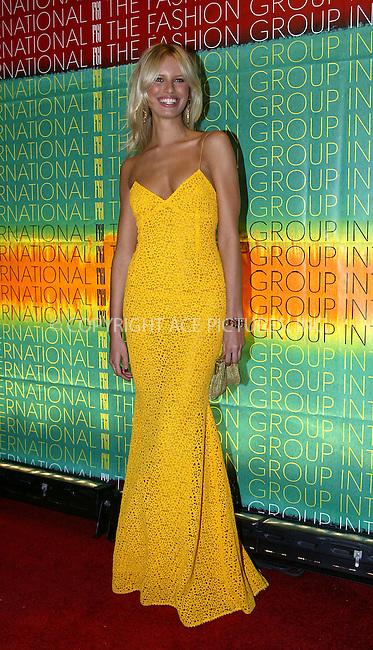 Karolina Kurkova attending The Fashion Group International's 20th Annual Night of Stars in New York. October 30, 2003...Please byline: NY Photo Press.   ..*PAY-PER-USE*      ....NY Photo Press:  ..phone (646) 267-6913;   ..e-mail: info@nyphotopress.com