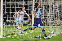 Scott Kashket of Wycombe Wanderers celebrates scoring during the The Checkatrade Trophy match between Wycombe Wanderers and West Ham United U21 at Adams Park, High Wycombe, England on 4 October 2016. Photo by David Horn.