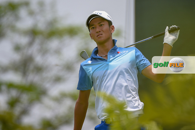 Kazuya OSAWA (JPN) watches his tee shot on 4 during Rd 2 of the Asia-Pacific Amateur Championship, Sentosa Golf Club, Singapore. 10/5/2018.<br /> Picture: Golffile | Ken Murray<br /> <br /> <br /> All photo usage must carry mandatory copyright credit (© Golffile | Ken Murray)